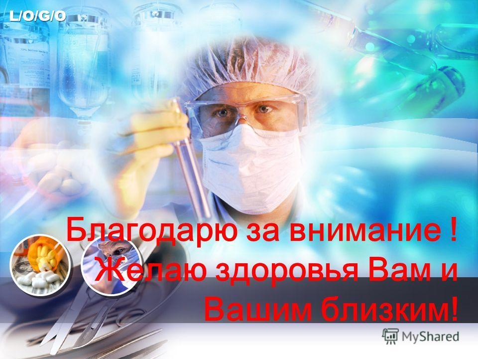 L/O/G/O Благодарю за внимание ! Желаю здоровья Вам и Вашим близким!