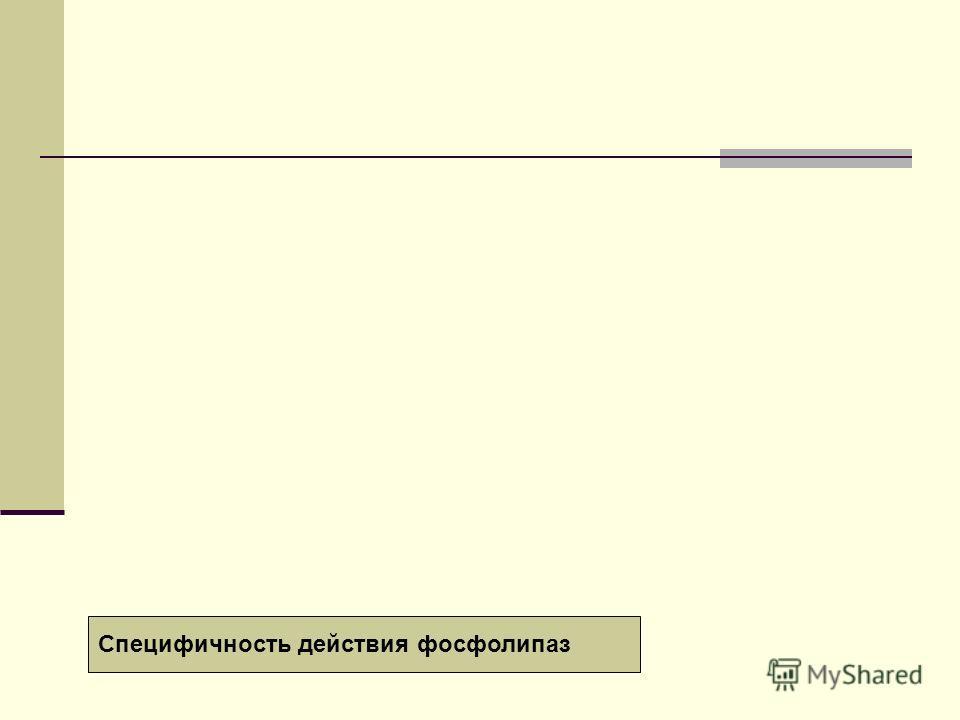 Специфичность действия фосфолипаз