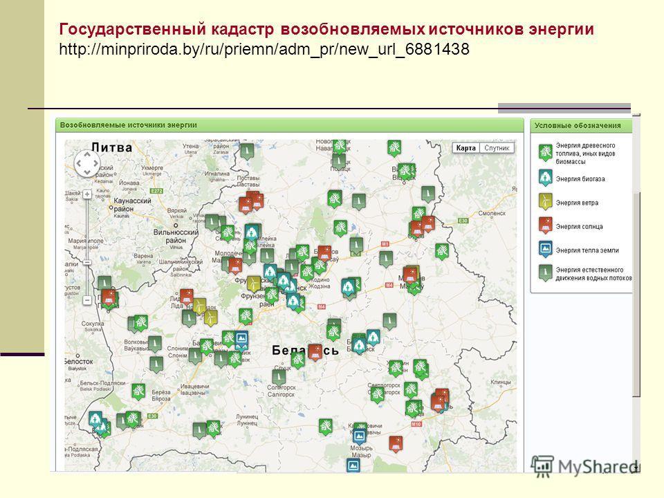 Государственный кадастр возобновляемых источников энергии http://minpriroda.by/ru/priemn/adm_pr/new_url_6881438