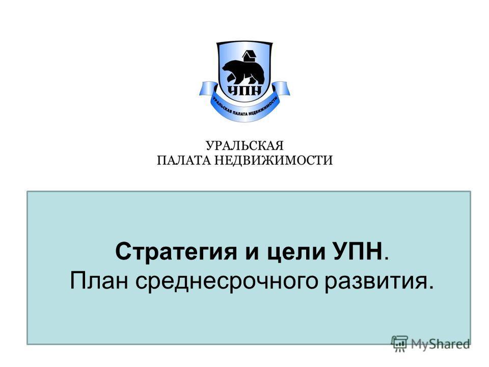 Стратегия и цели УПН. План среднесрочного развития.