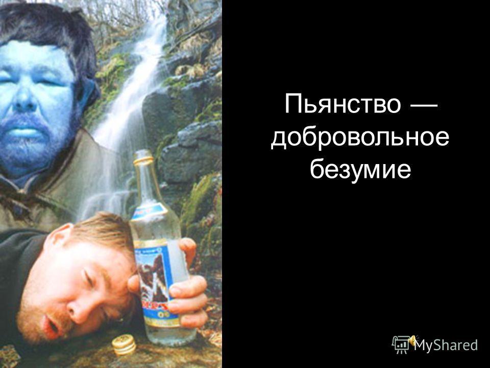 Пьянство добровольное безумие