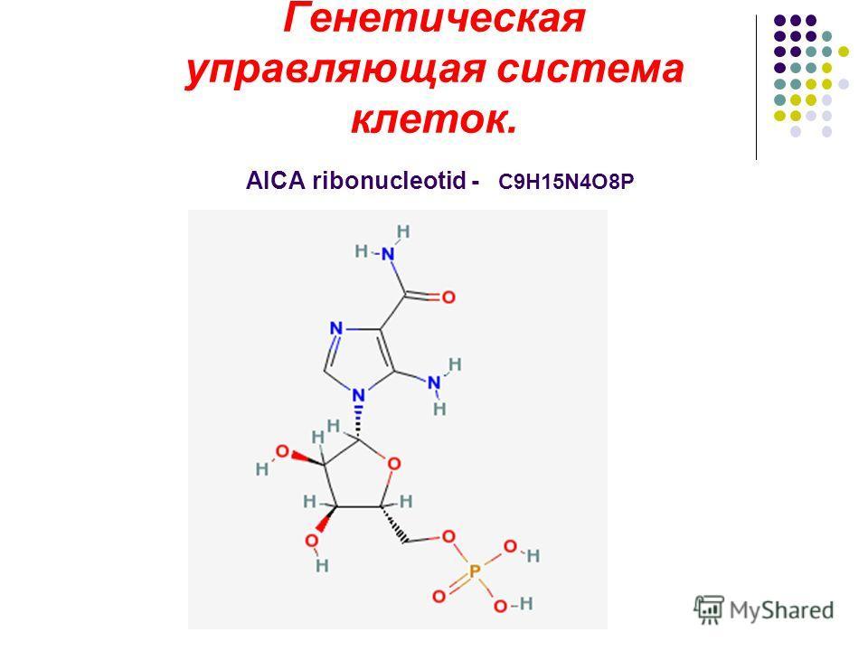 Генетическая управляющая система клеток. AICA ribonucleotid - C9H15N4O8P