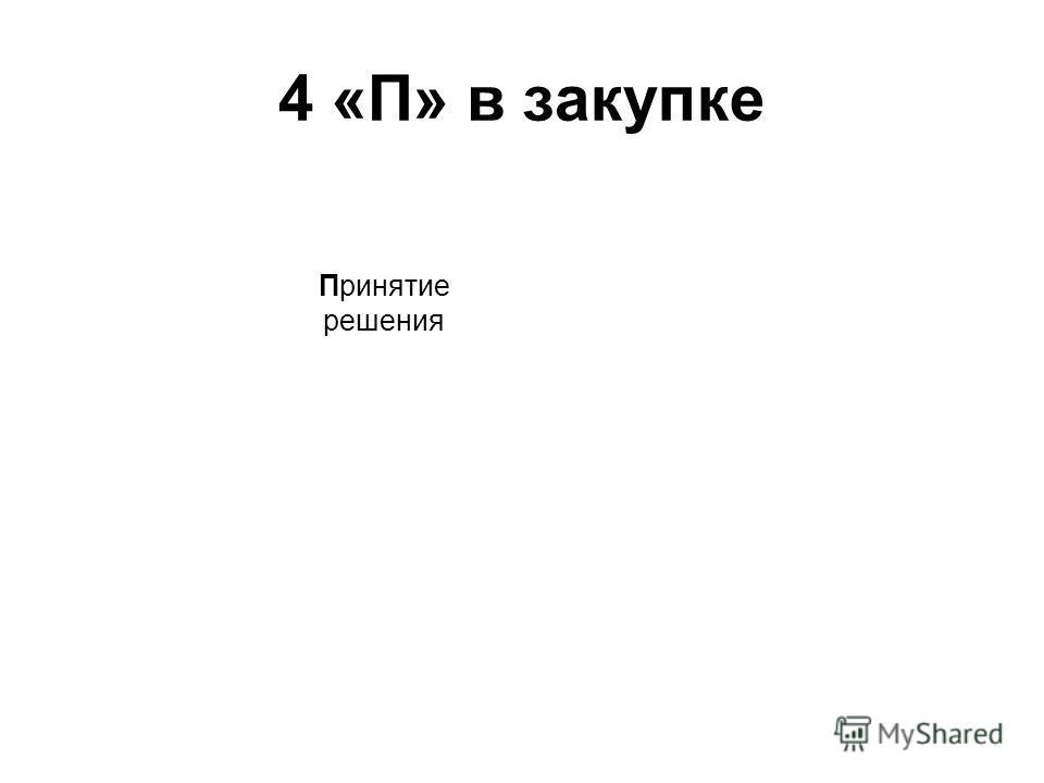 4 «П» в закупке Приняти е решения
