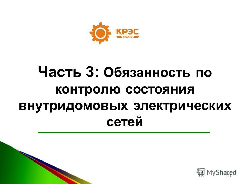 Часть 3: Обязанность по контролю состояния внутридомовых электрических сетей 34