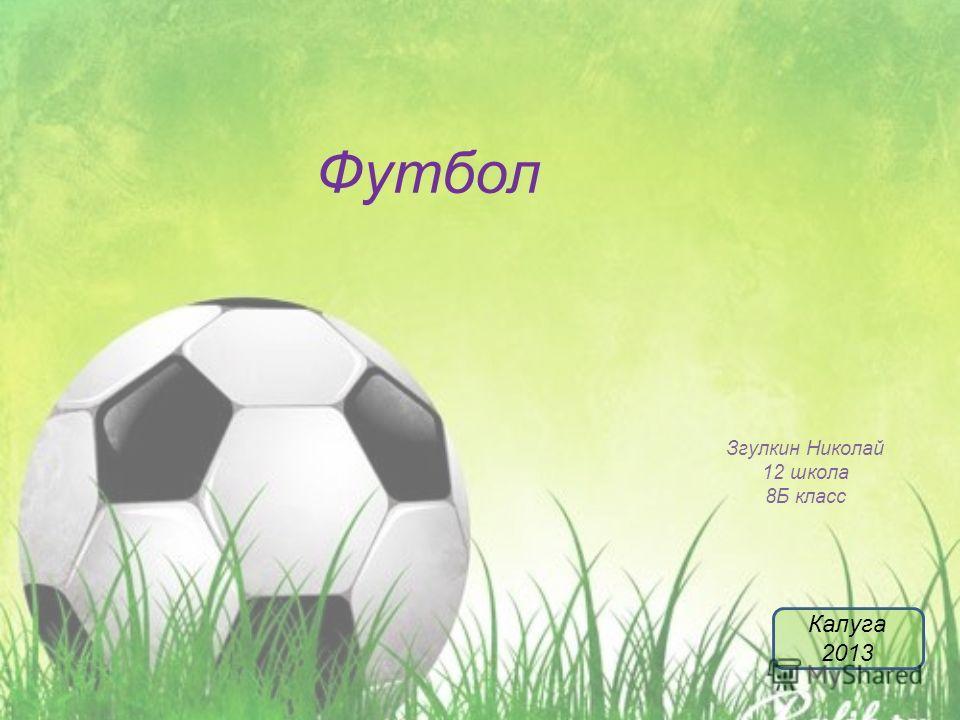 Футбол Згулкин Николай 12 школа 8Б класс Калуга 2013