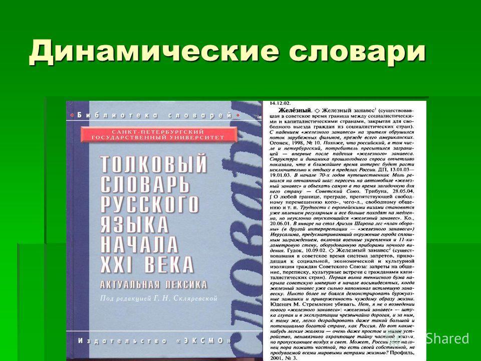 Динамические словари