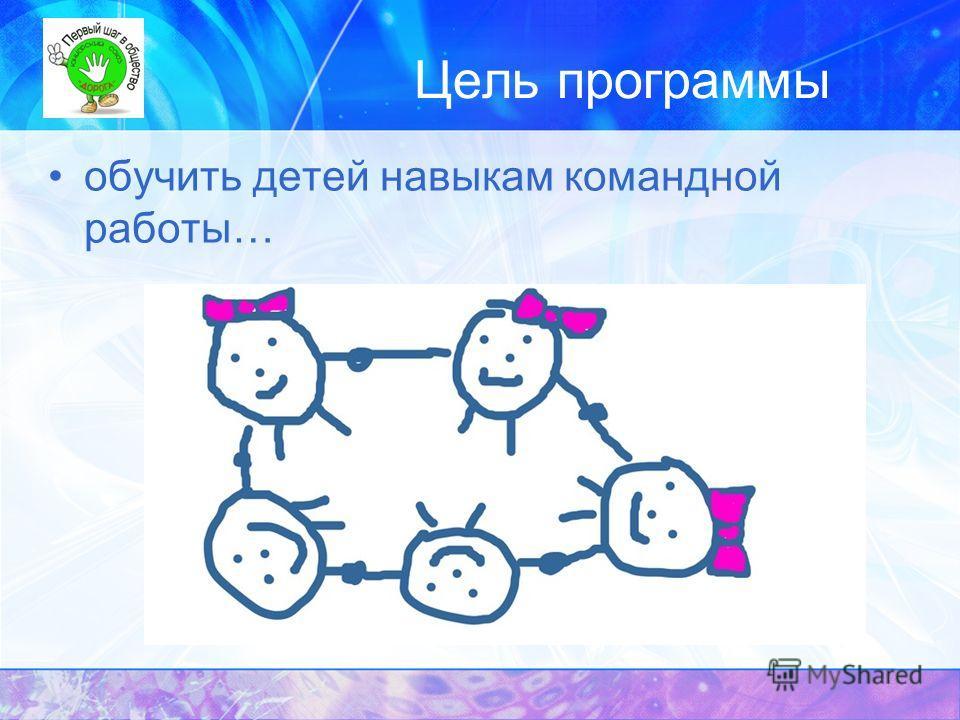 Цель программы обучить детей навыкам командной работы…