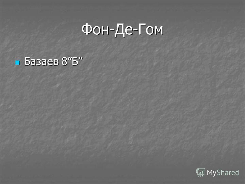Фон-Де-Гом Базаев 8Б Базаев 8Б