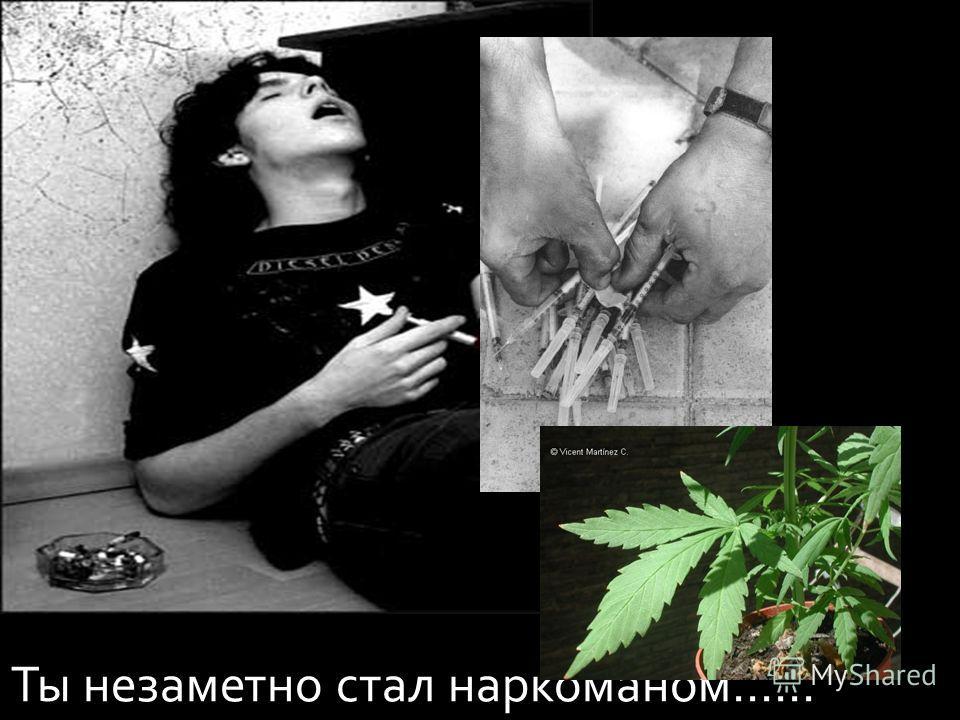 Ты незаметно стал наркоманом……