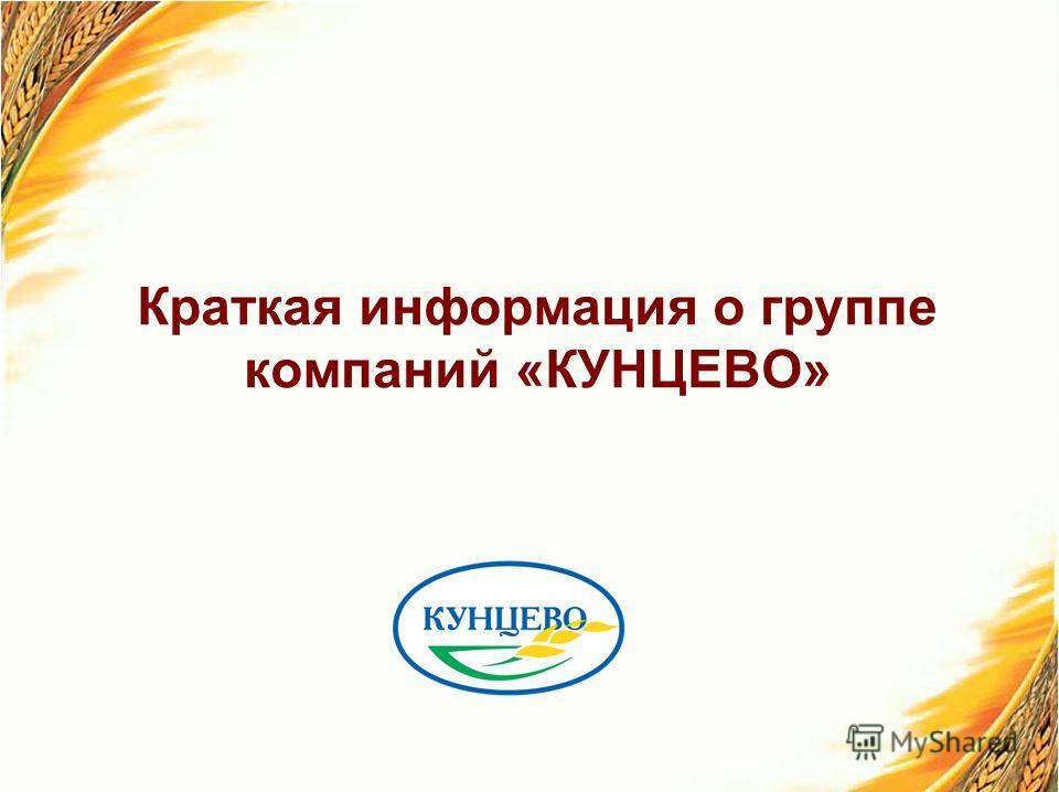 Краткая информация о группе компаний «КУНЦЕВО»