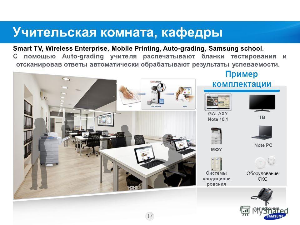 16 Пример комплектации E-boardNote PC Monitor System Air Conditioner MFP