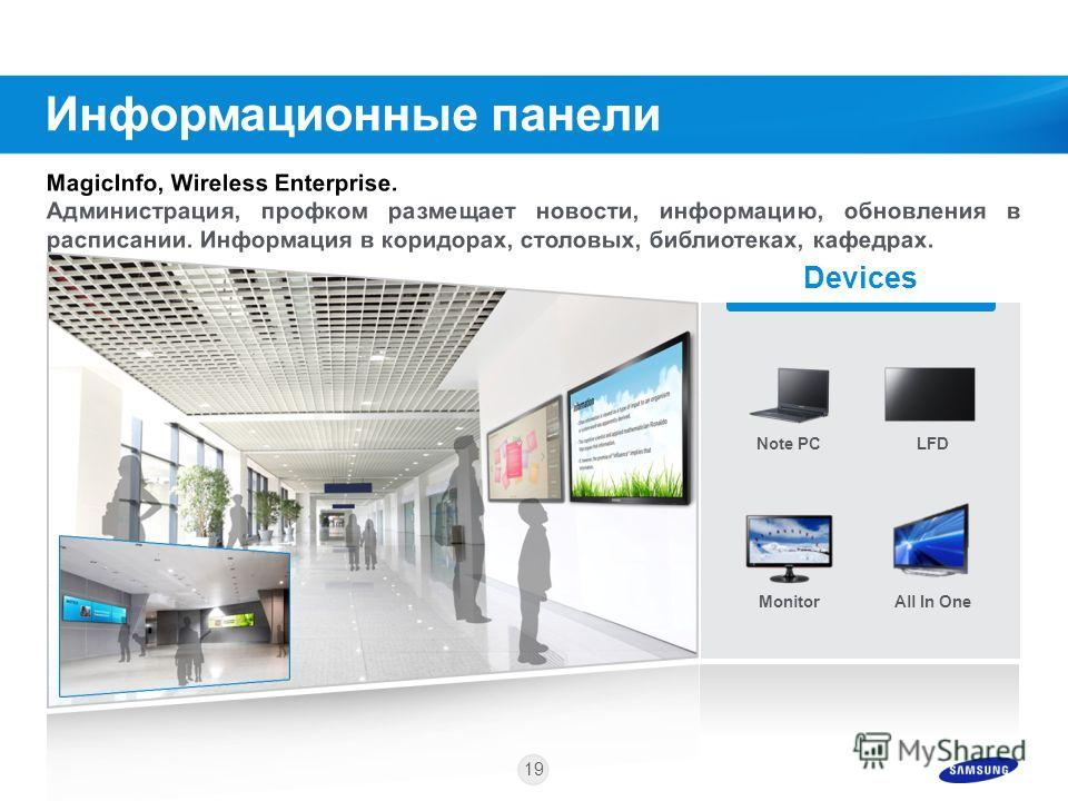 18 Пример комплектации GALAXY Note 10.1 Smart PC TV Access Point