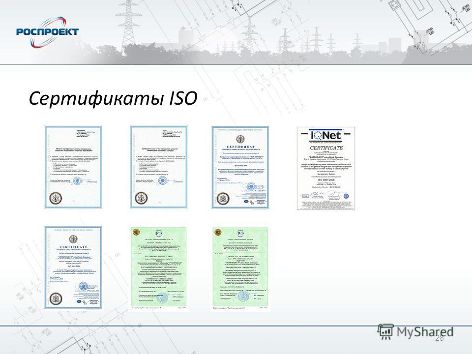 Сертификаты ISO 28