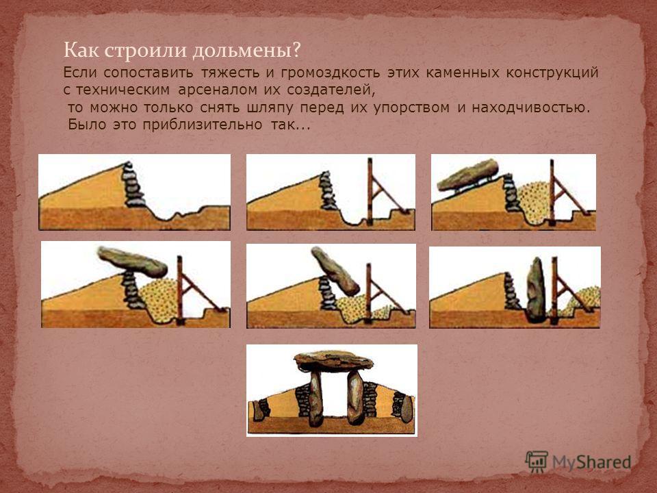 Наиболее часто встречающееся мегалитическое сооружение Европы дольмен представляет собой камеру или склеп из стоящих вертикально обтесанных монолитов, на которых покоится один или несколько больших плоских камней, составляющих «крышу». Многие из них,