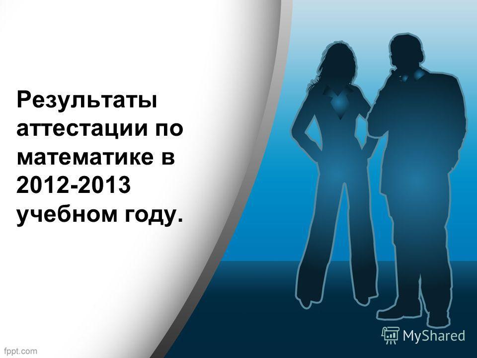 Результаты аттестации по математике в 2012-2013 учебном году.
