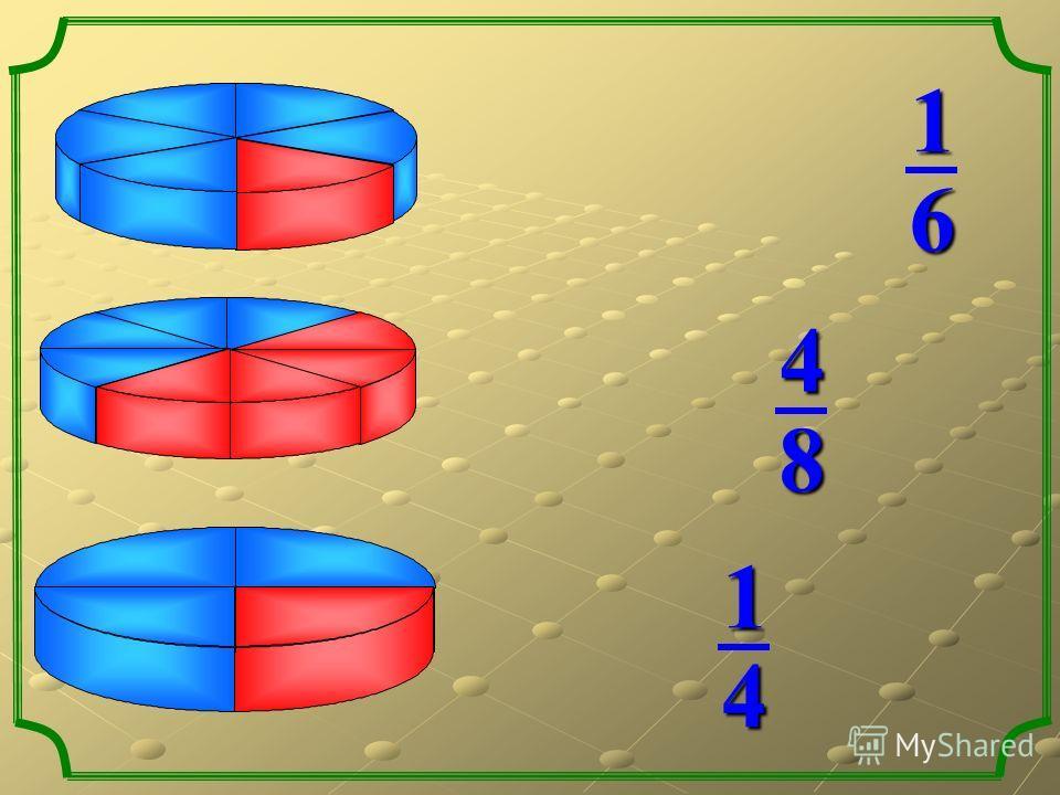 Какая часть фигуры закрашена? две третьих одна третья четыре восьмых Какая часть фигуры закрашена? пять шестых одна пятая одна шестая