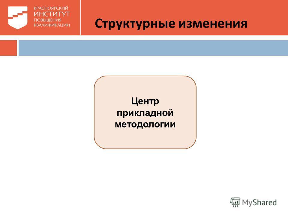 Центр прикладной методологии Структурные изменения