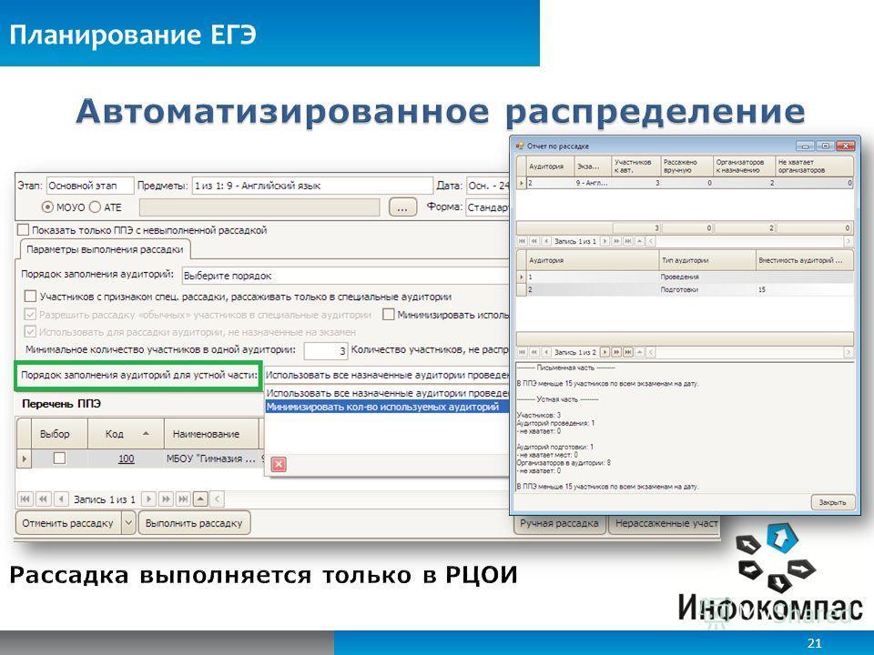 Планирование ЕГЭ 21