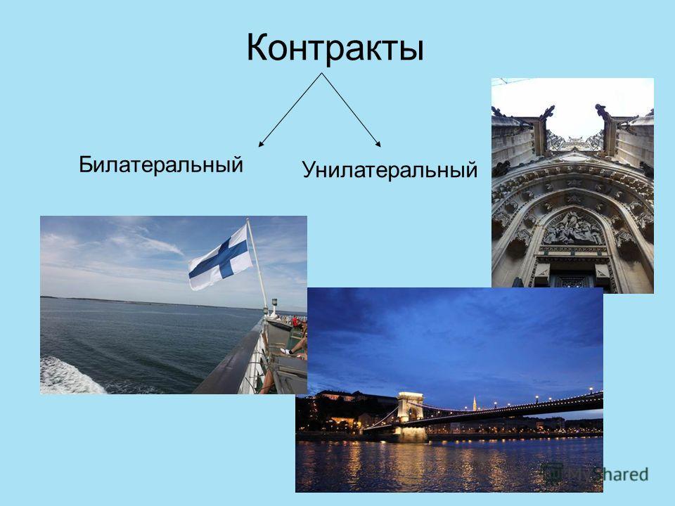 Контракты Билатеральный Унилатеральный