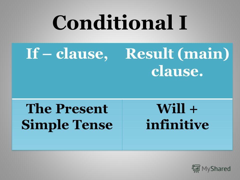 Conditional I