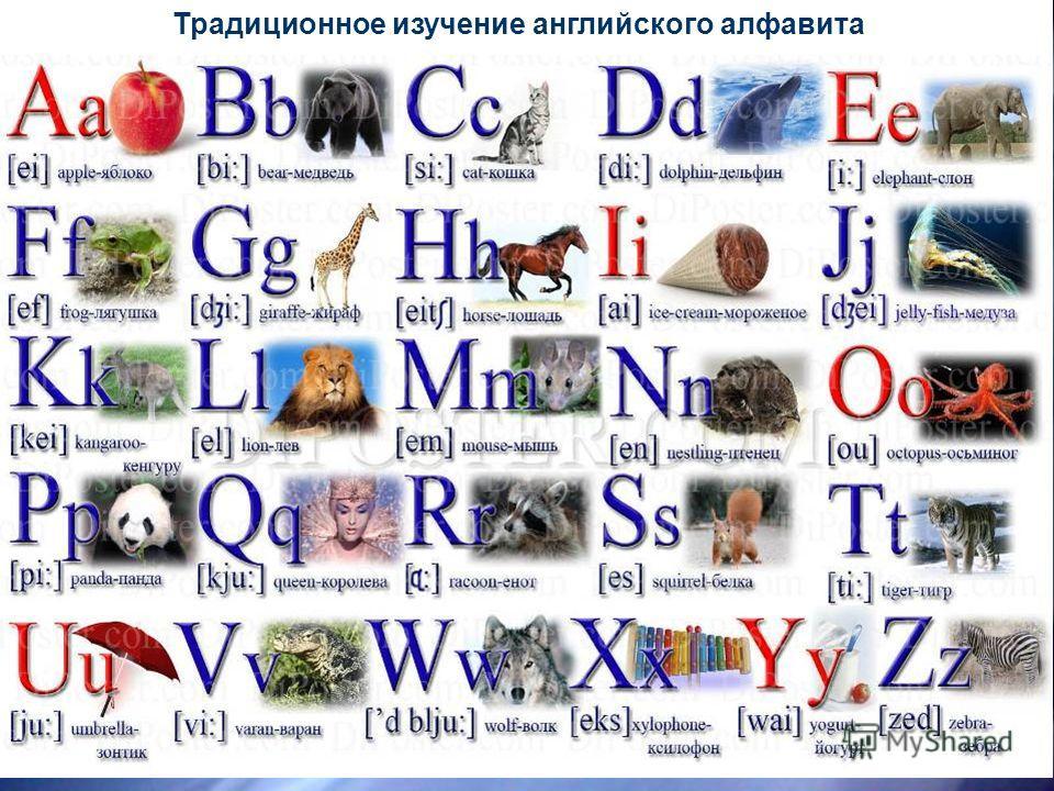5 Традиционное изучение английского алфавита