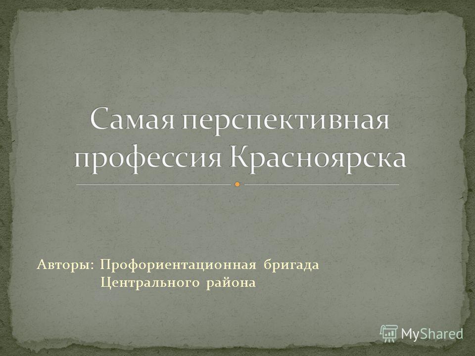 Авторы: Профориентационная бригада Центрального района