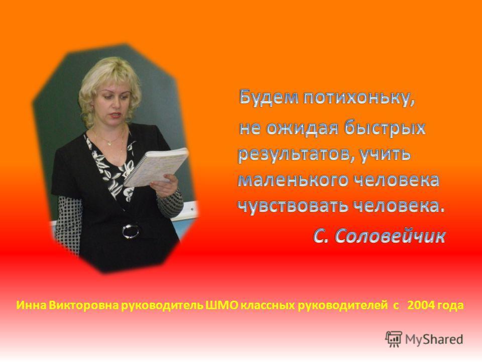 Инна Викторовна руководитель ШМО классных руководителей с 2004 года