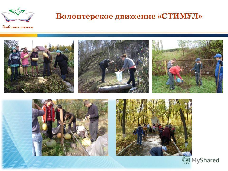 Эмблема школы Волонтерское движение «СТИМУЛ»