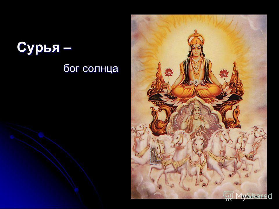 Сурья – бог солнца бог солнца