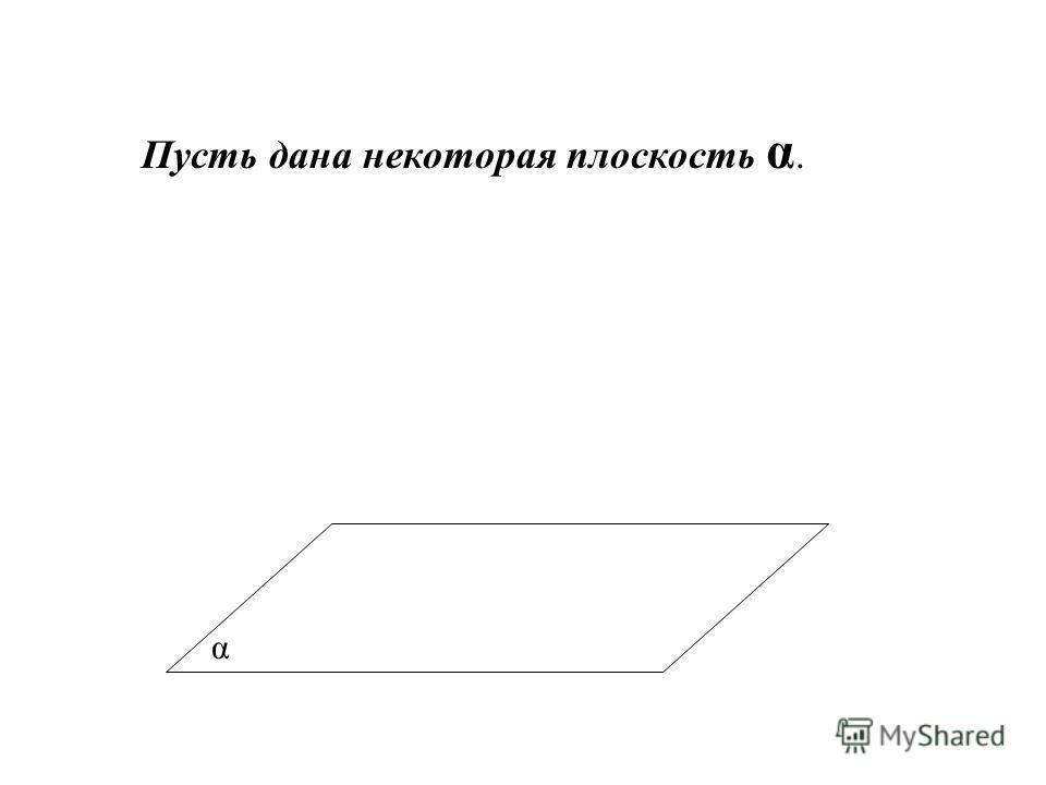 α Пусть дана некоторая плоскость α.