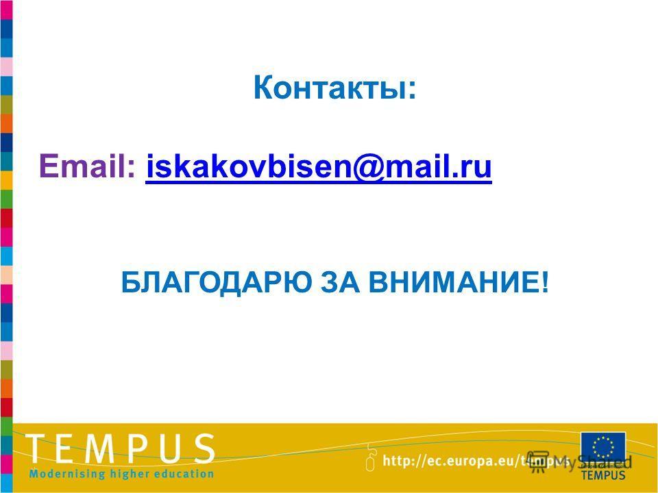 24 Контакты: Email: iskakovbisen@mail.ruiskakovbisen@mail.ru БЛАГОДАРЮ ЗА ВНИМАНИЕ!
