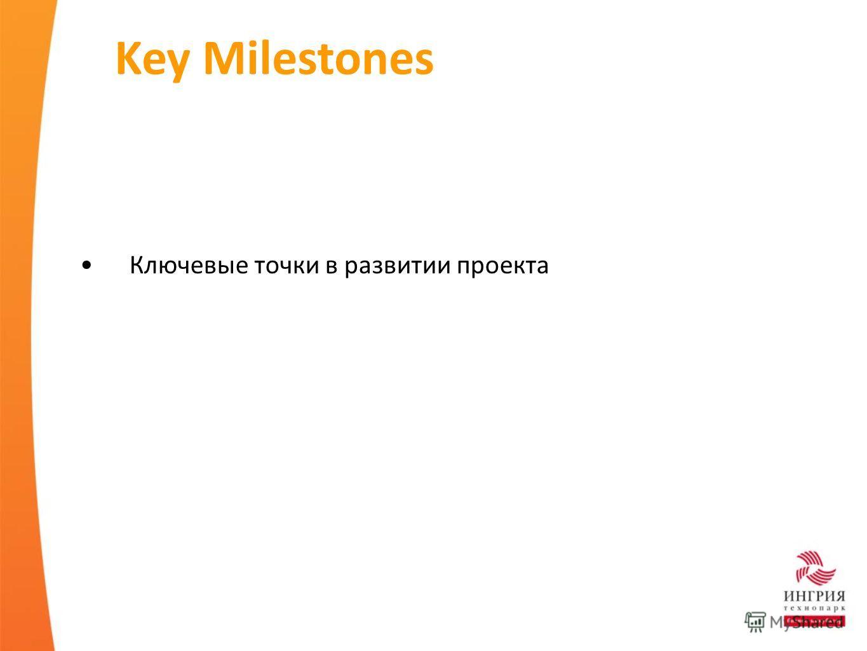 Key Milestones Ключевые точки в развитии проекта