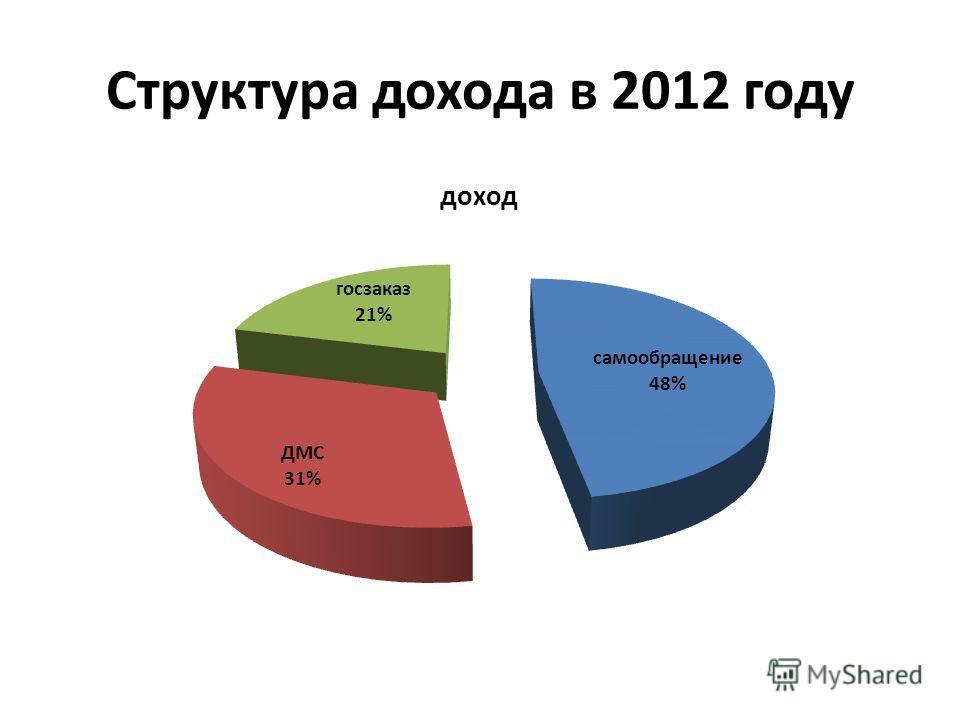 Структура дохода в 2012 году