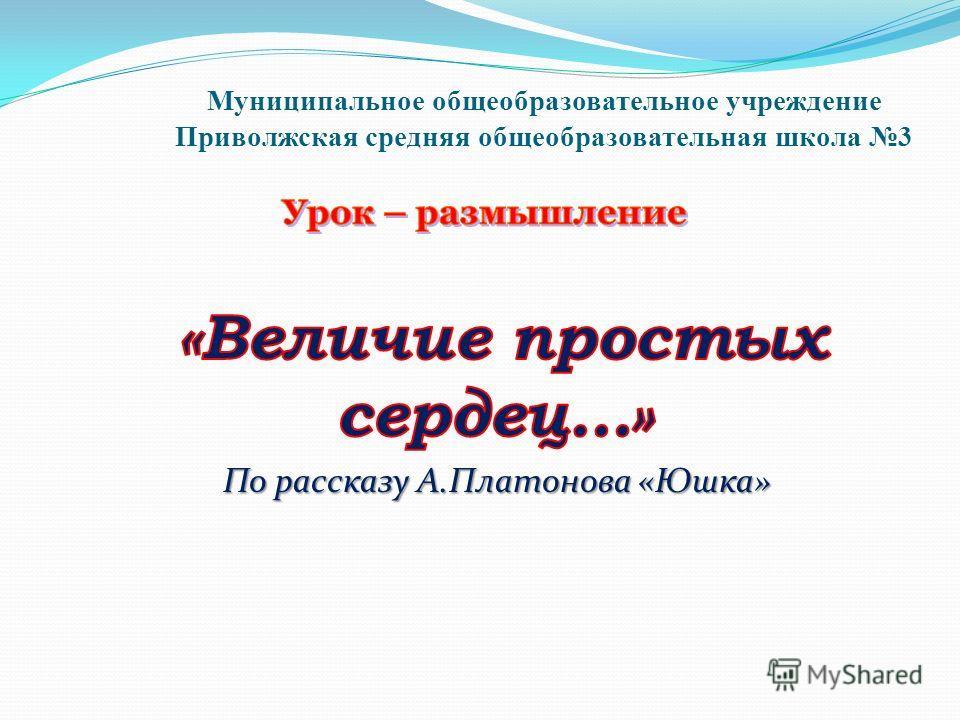 Муниципальное общеобразовательное учреждение Приволжская средняя общеобразовательная школа 3