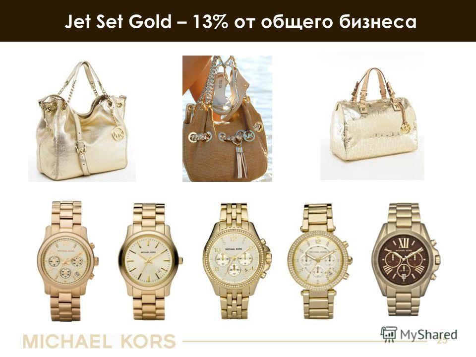 25 Jet Set Gold – 13% от общего бизнеса