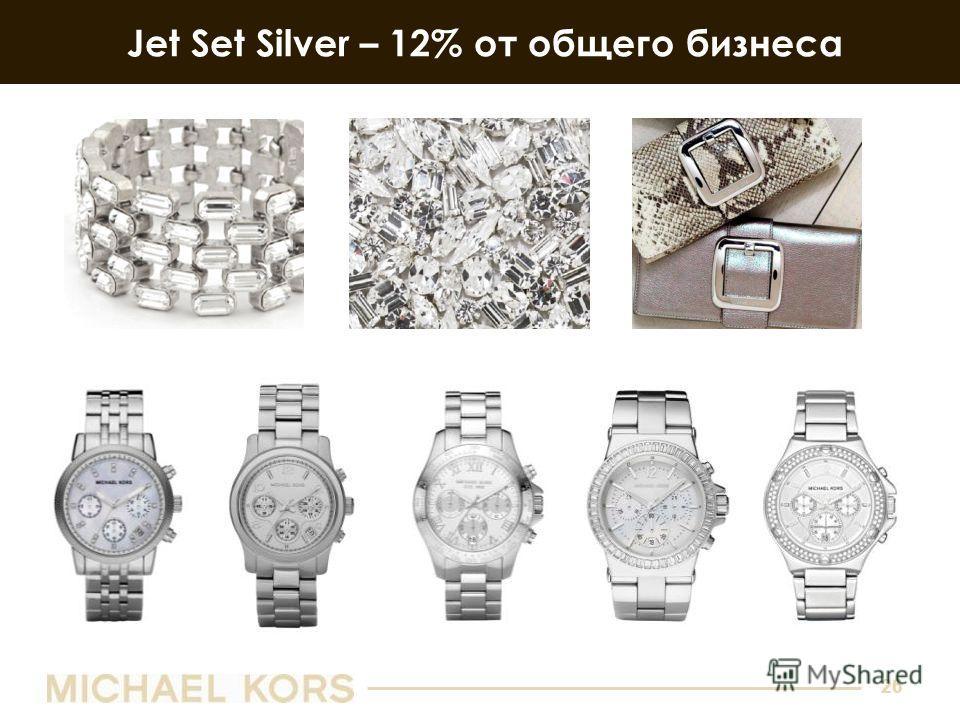26 Jet Set Silver – 12% от общего бизнеса