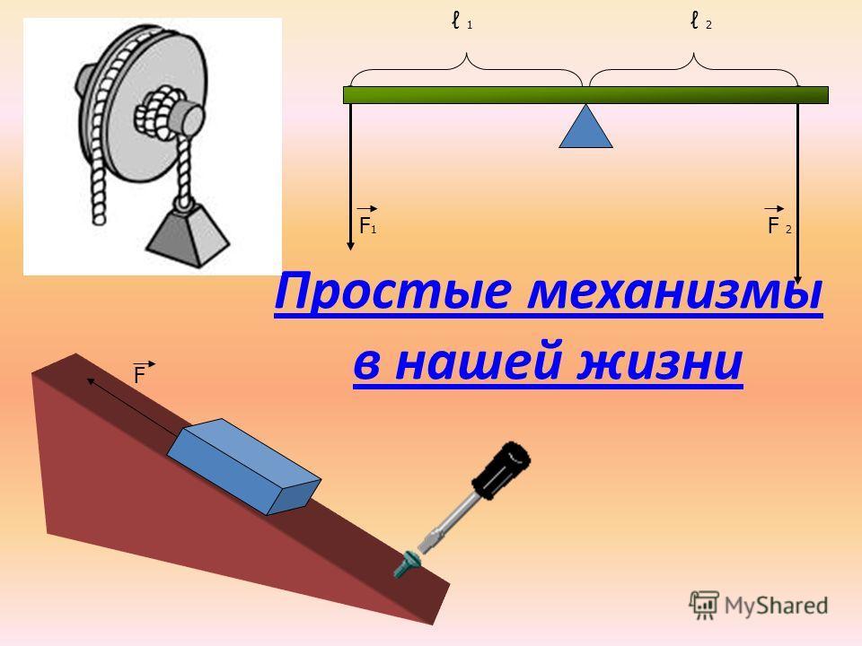Простые механизмы в нашей жизни F 2 1 F1F1 F 2