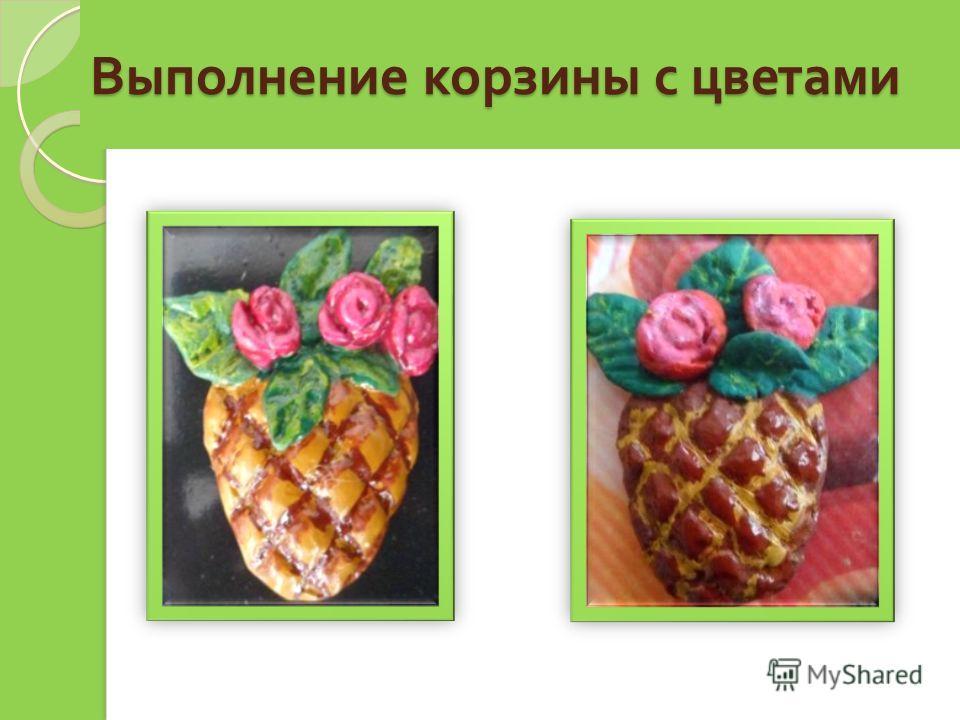 Выполнение корзины с цветами