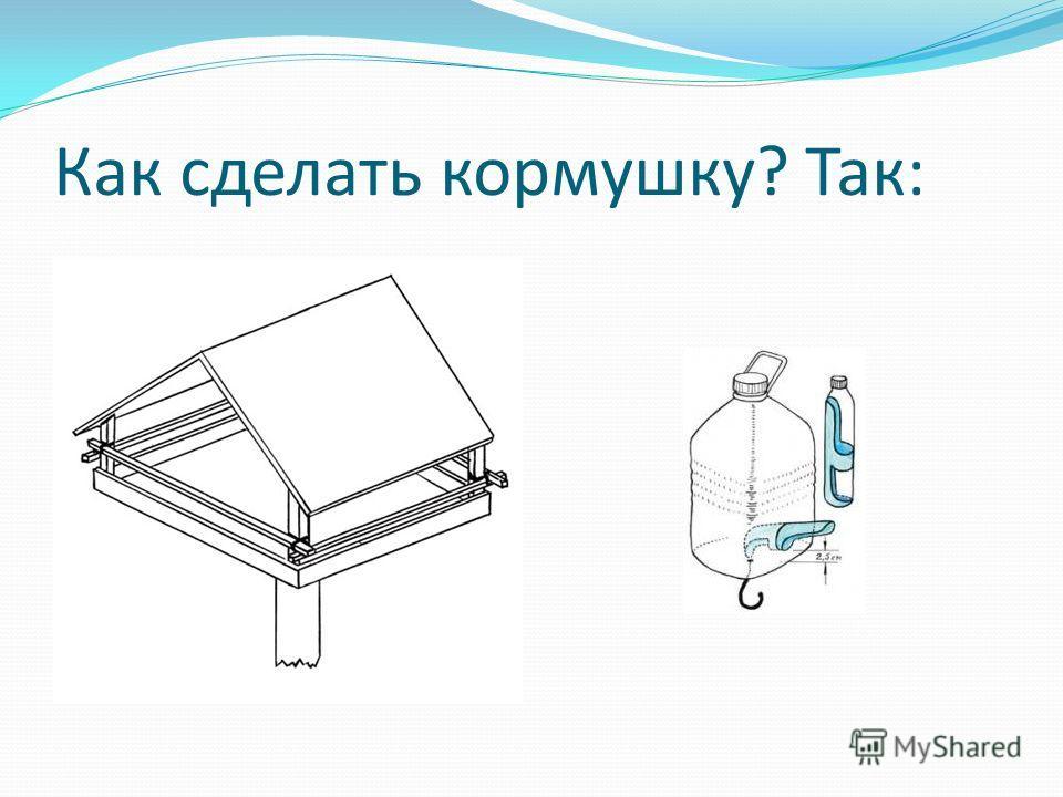 Как сделать кормушку? Так: