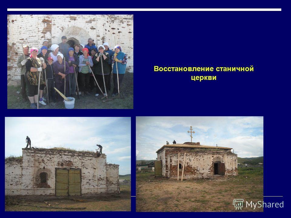 Восстановление станичной церкви
