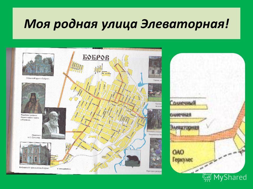 Моя родная улица Элеваторная!