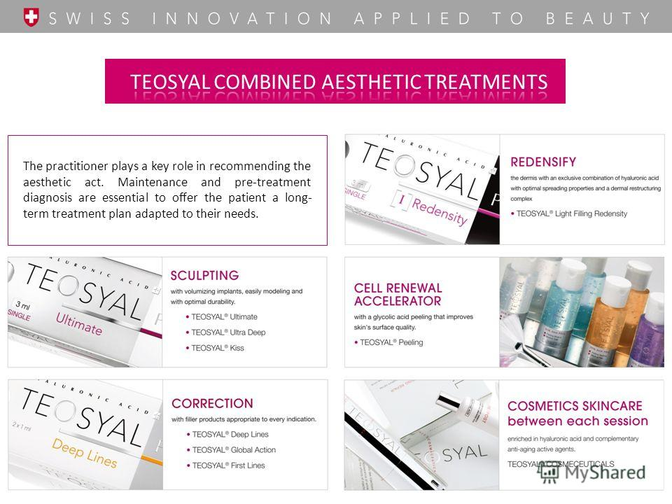 The practitioner plays a key role in recommending the aesthetic act. Maintenance and pre-treatment diagnosis are essential to offer the patient a long- term treatment plan adapted to their needs.