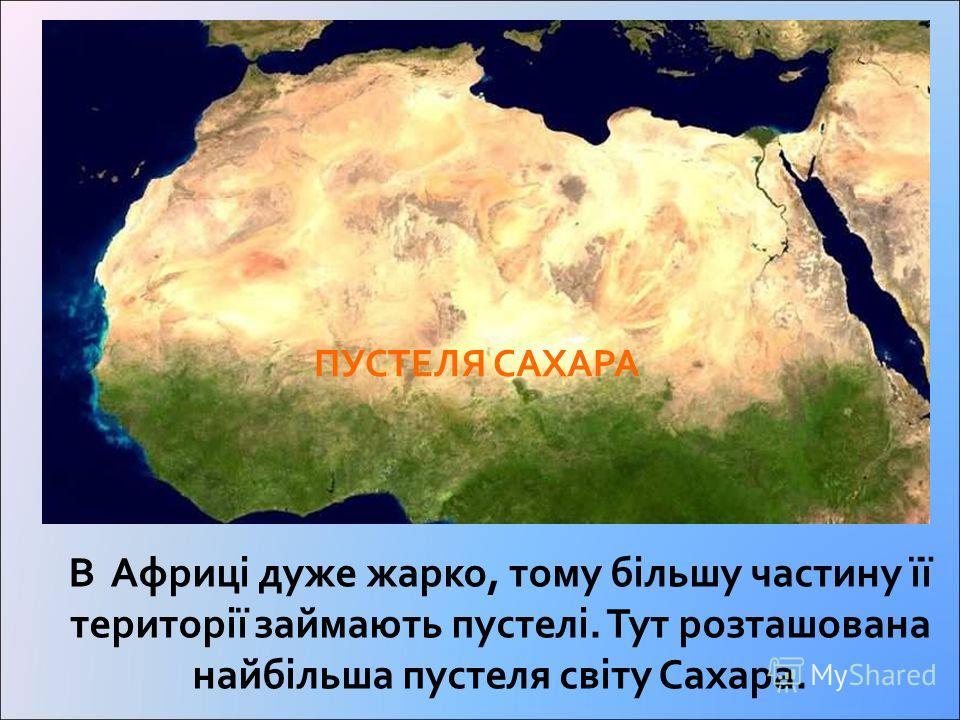 Пустелі Африки