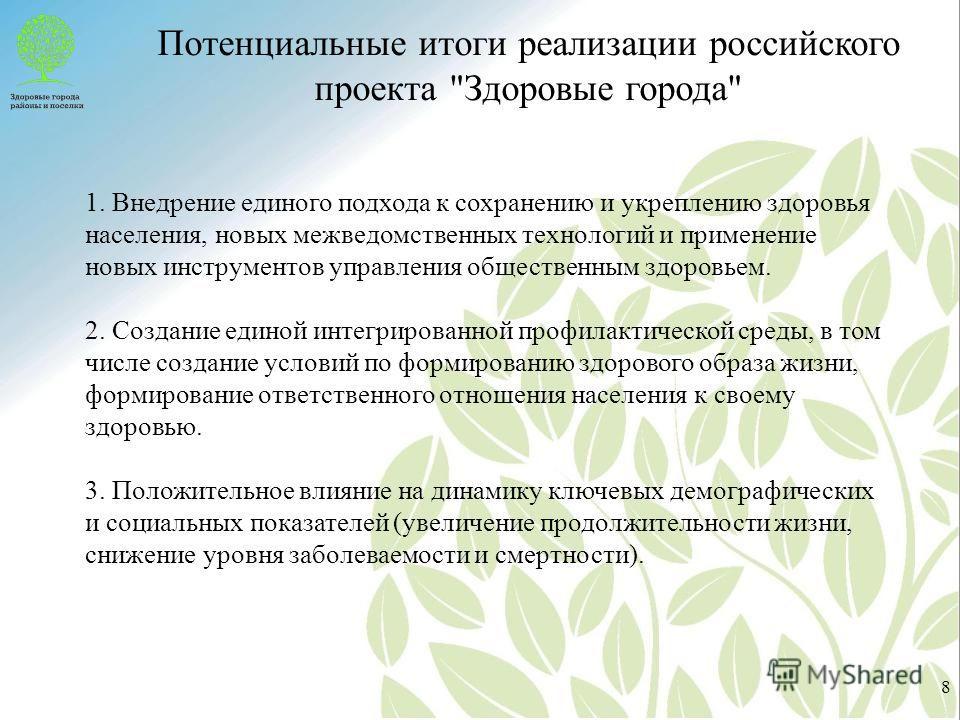 Потенциальные итоги реализации российского проекта