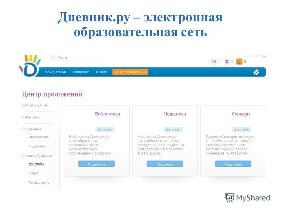 Дневник.ру – электронная образовательная сеть