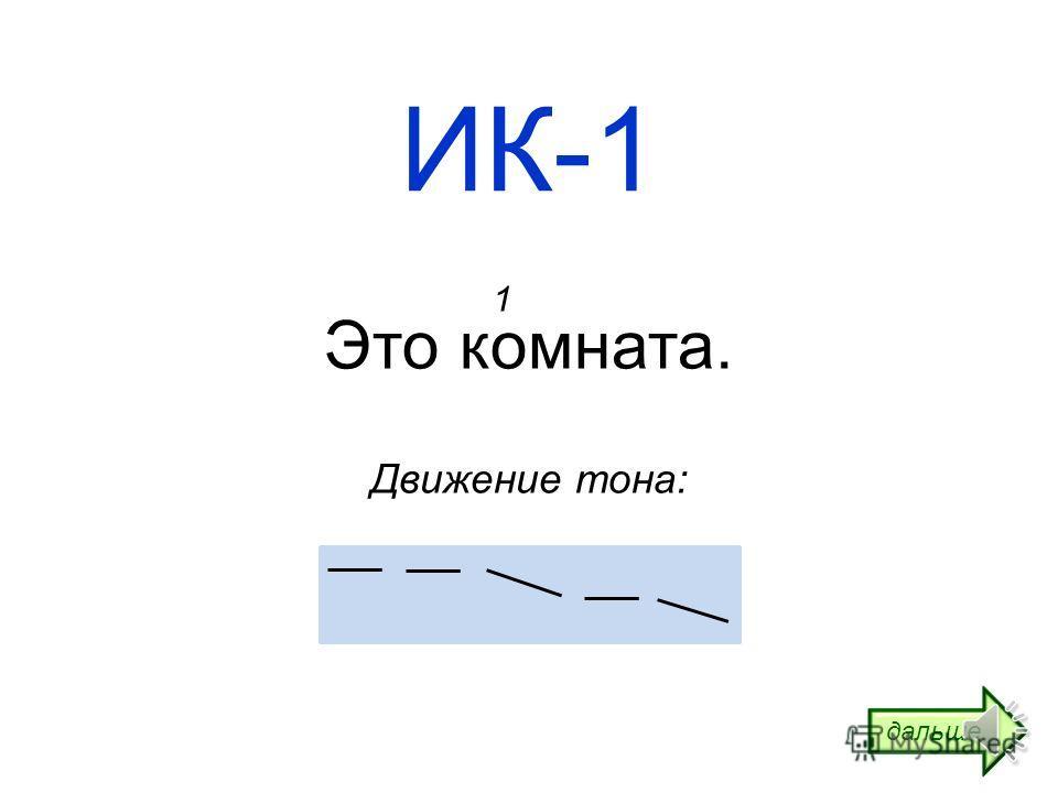 Интонационные конструкции Часть 2 ИК-1 УРЯ!ру: учим русский язык! http://www.urya.ru дальше