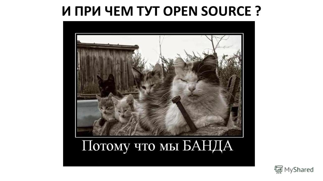 И ПРИ ЧЕМ ТУТ OPEN SOURCE ?