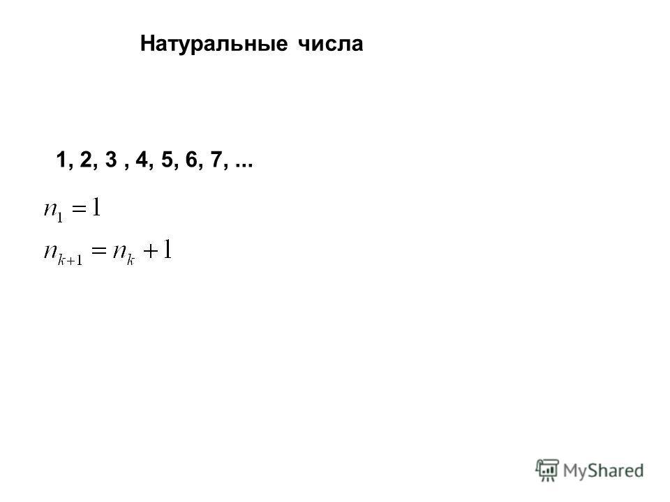 1, 2, 3, 4, 5, 6, 7,... Натуральные числа