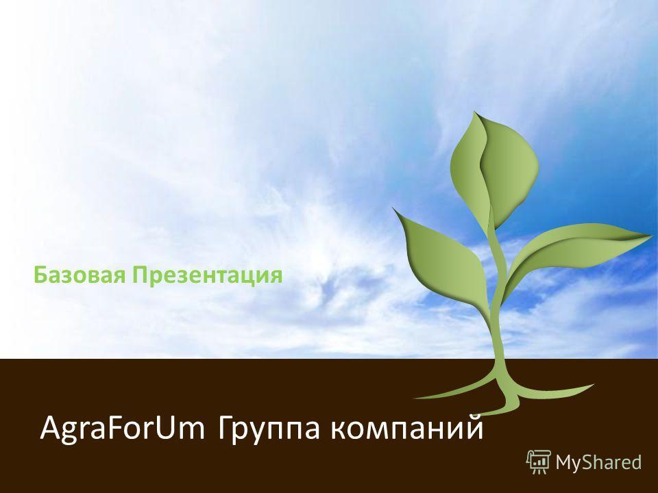 Базовая Презентация AgraForUm Группа компаний
