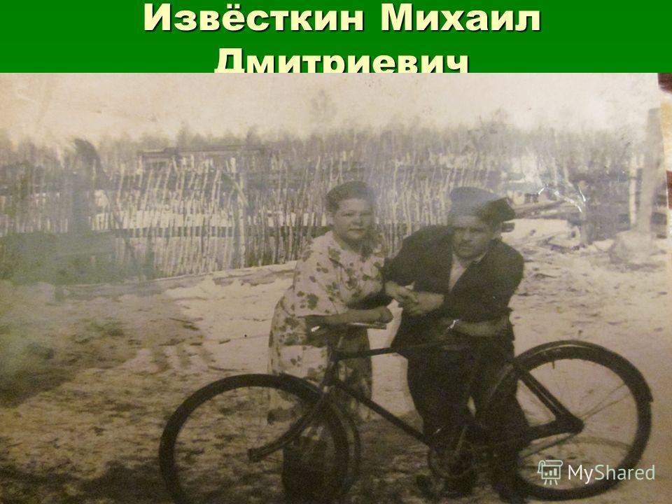 Извёсткин Михаил Дмитриевич